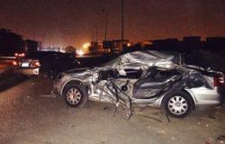 مصرع شاب وإصابة 2 آخرين فى حادث تصادم ببنى سويف