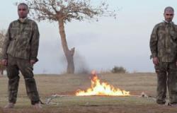 بالصور..أردوغان يذوق من كأس داعش.. التنظيم يحرق جنديين تركيين فى سوريا